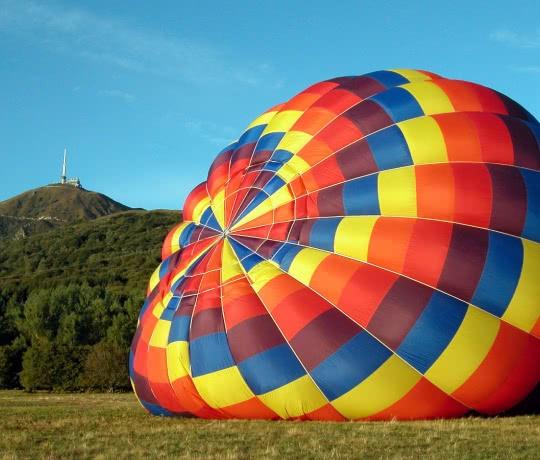 Chaîne des Puys, montgolfière