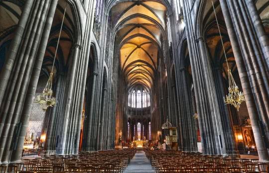 Interieur cathédrale Notre-Dame-de-l'Assomption © Ville de Clermont-Ferrand
