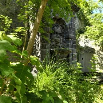 Fontaine au mascaron, parc thermal