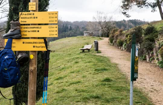 sentier de randonnée balisé