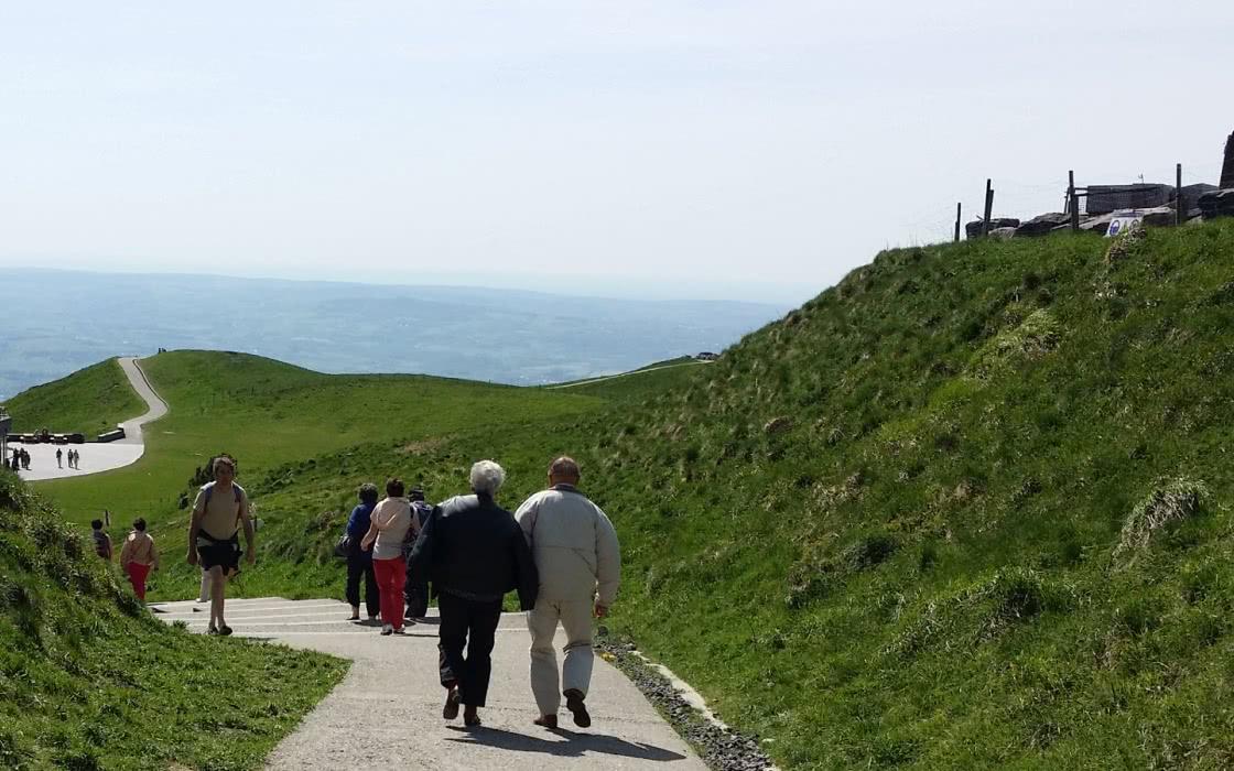 Sentier sommet du puy de Dôme