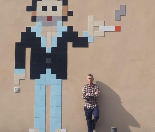 Gainsbourg - pixel art