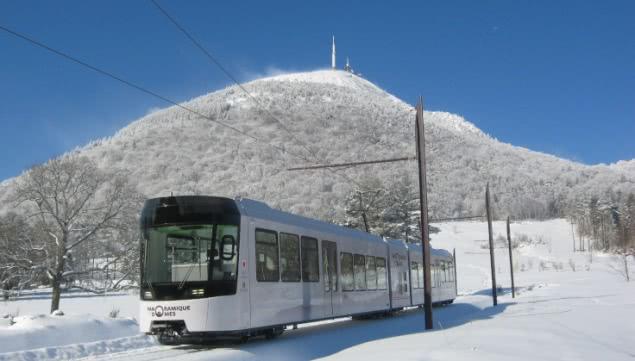 Panoramique des Dômes - hiver