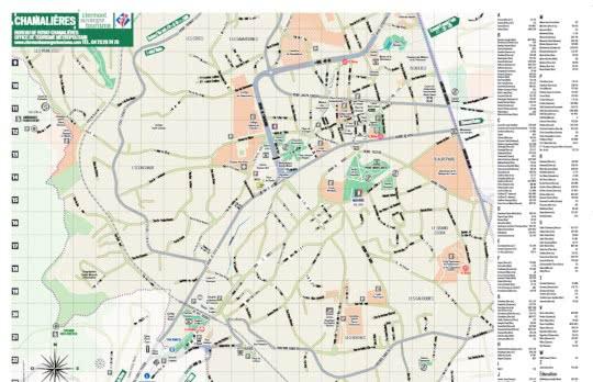 aperçu plan de Chamalières