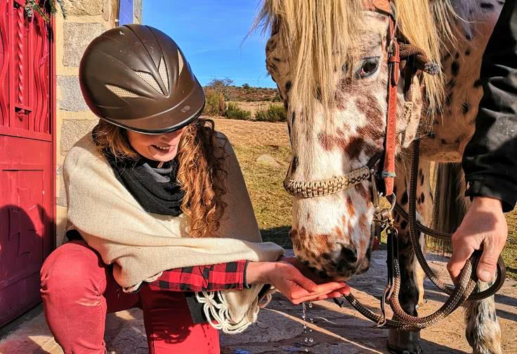 balade cheval - Vidéo hiver Jessica