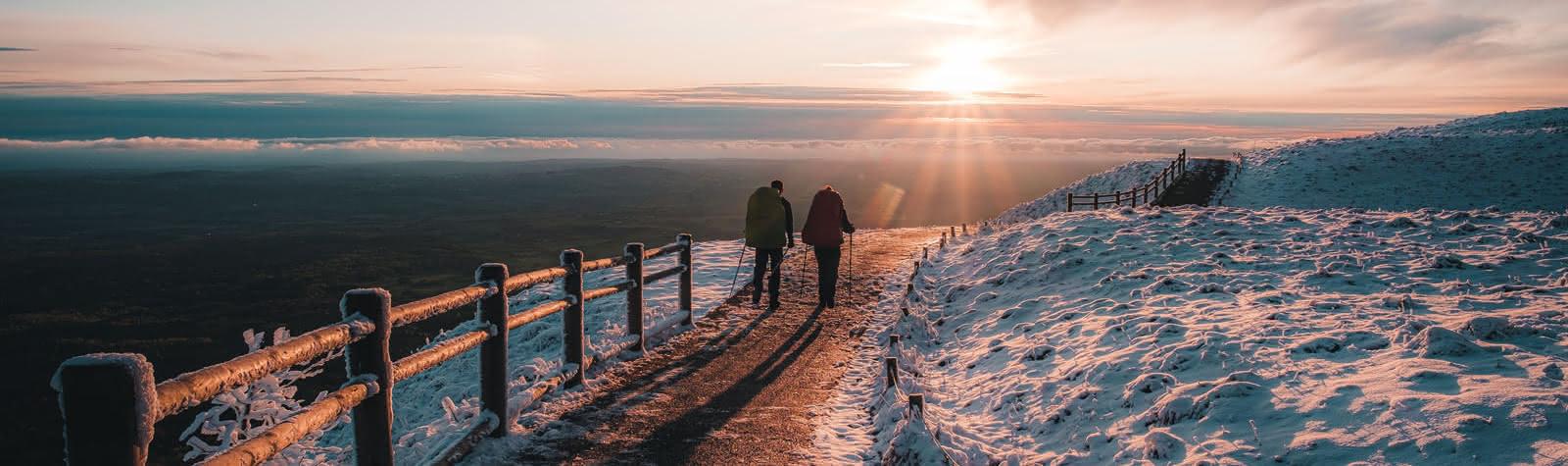 promenade hiver puy de Dôme
