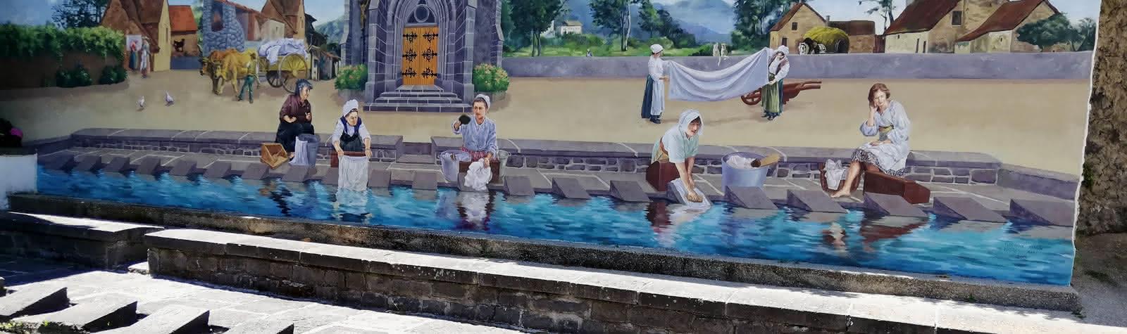 Fresque place de la Barreyre à Nohanent
