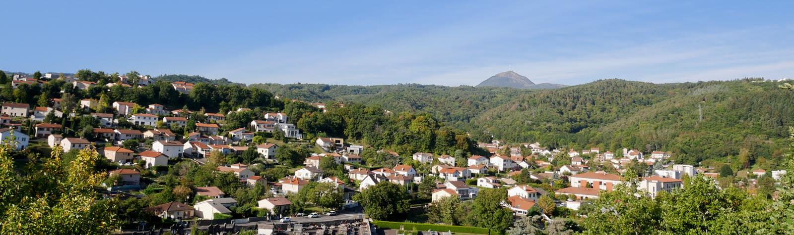 Panorama Durtol et volcans d'Auvergne