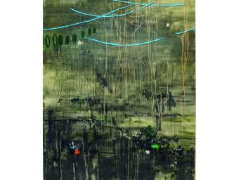 Marina Rheingantz - Agapanthus, 2019, Huile sur toile, 210 × 160 cm – Courtesy Zeno X Gallery