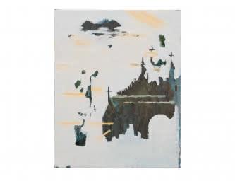 Marina Rheingantz - Mirror, 2019, Huile sur toile, 50 × 40 cm – Collection privée