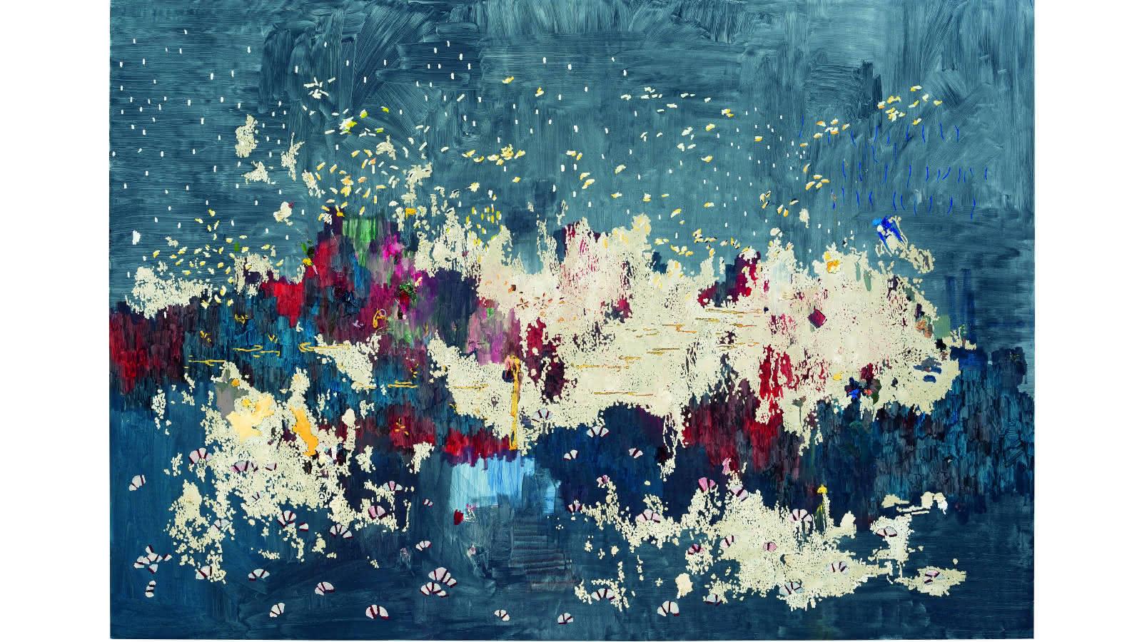 © Marina Rheingantz - Noturno em Si Maior, 2019, Huile sur toile, 230 × 330 cm – Collection Musée Voorlinden, Wassenaar, Pays-Bas