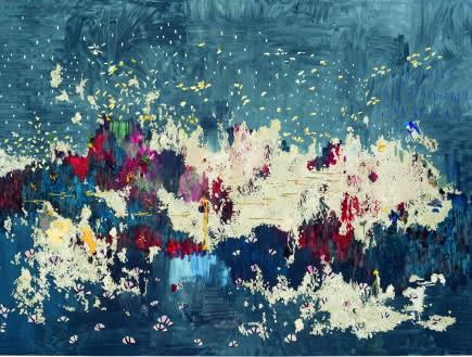 Marina Rheingantz - Noturno em Si Maior, 2019, Huile sur toile, 230 × 330 cm – Collection Musée Voorlinden, Wassenaar, Pays-Bas