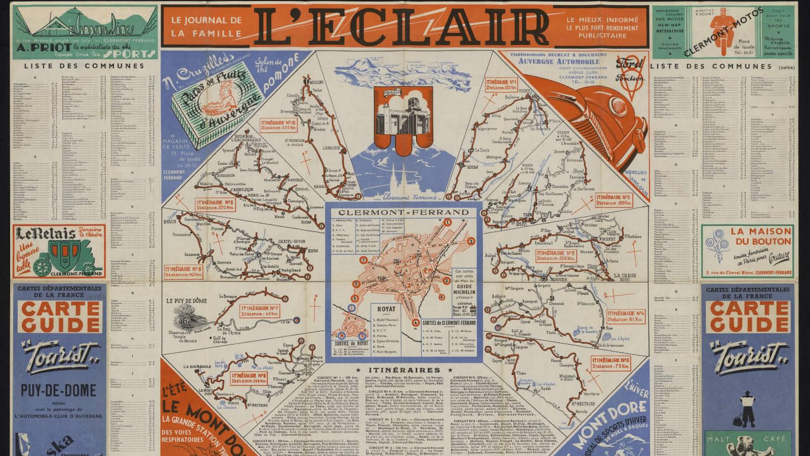 © L'Auvergne à la carte, trésors cartographiques du Massif Central