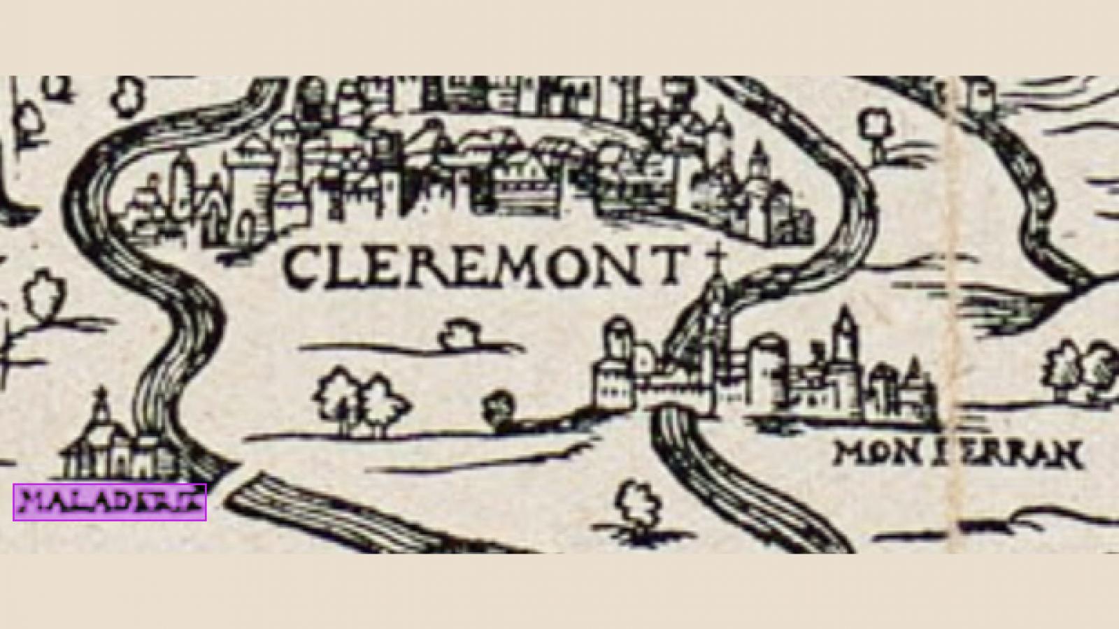 © Emplacement de la léproserie d'Herbet, 1560