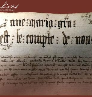 Extrait des Comptes des consuls de Montferrand, 1378-1384