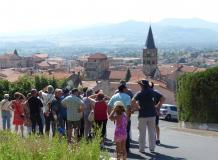 Visite centre bourg Cournon