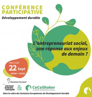 Conférence : L'entreprenariat social, une réponse aux enjeux de demain