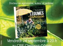 Affiche conférence légumes et canicule