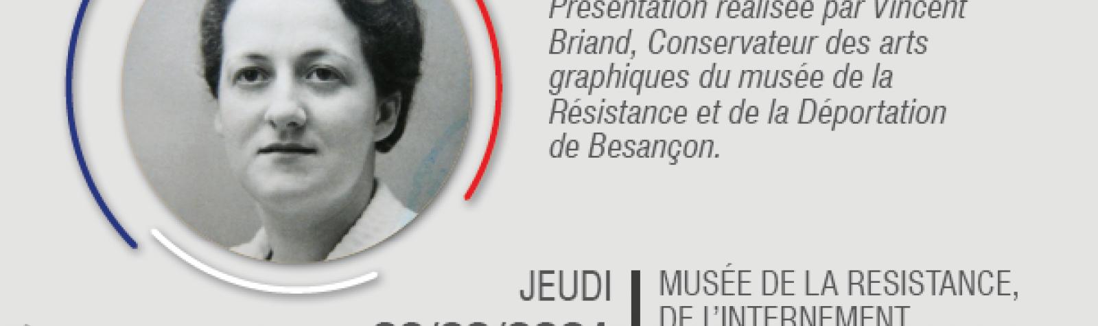 """© Conférence : Présentation de """"Verfügbar aux enfers"""" de Germaine Tillion"""