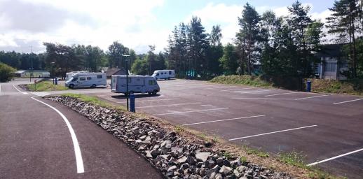 Aire de service de camping car d'Orcines