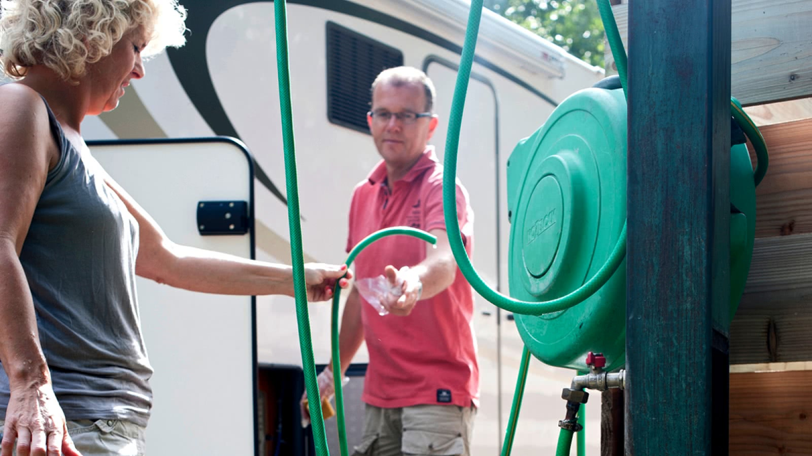 Air de service camping Huttopia