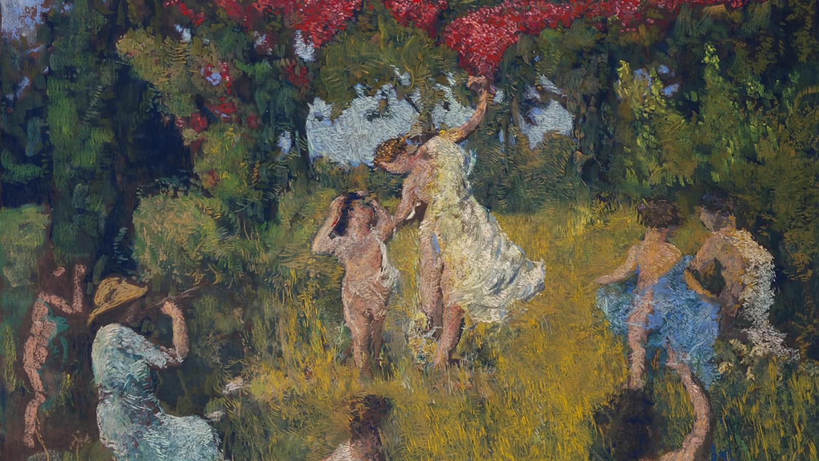 Ker-Xavier Roussel La Danse : étude pour le décor du théâtre du palais de Chaillot, vers 1936-1937 Pastel sur papier marouflé sur toile