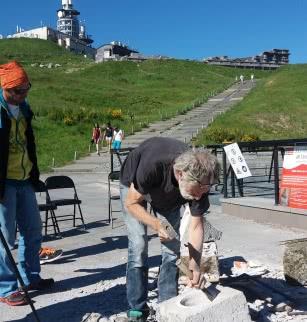 """Archéologie expérimentale: """"Construction avec les techniques gallo-romaines d'un chapiteau de temple de Mercure"""""""