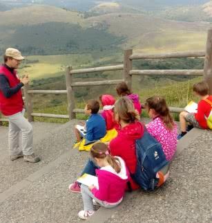 Les petits explorateurs au sommet !
