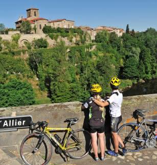 Cyclisme au long de l'Allier