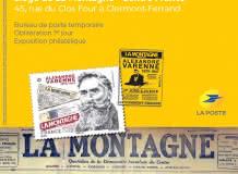 Centenaire du Journal La Montagne - timbre Alexandre Varenne