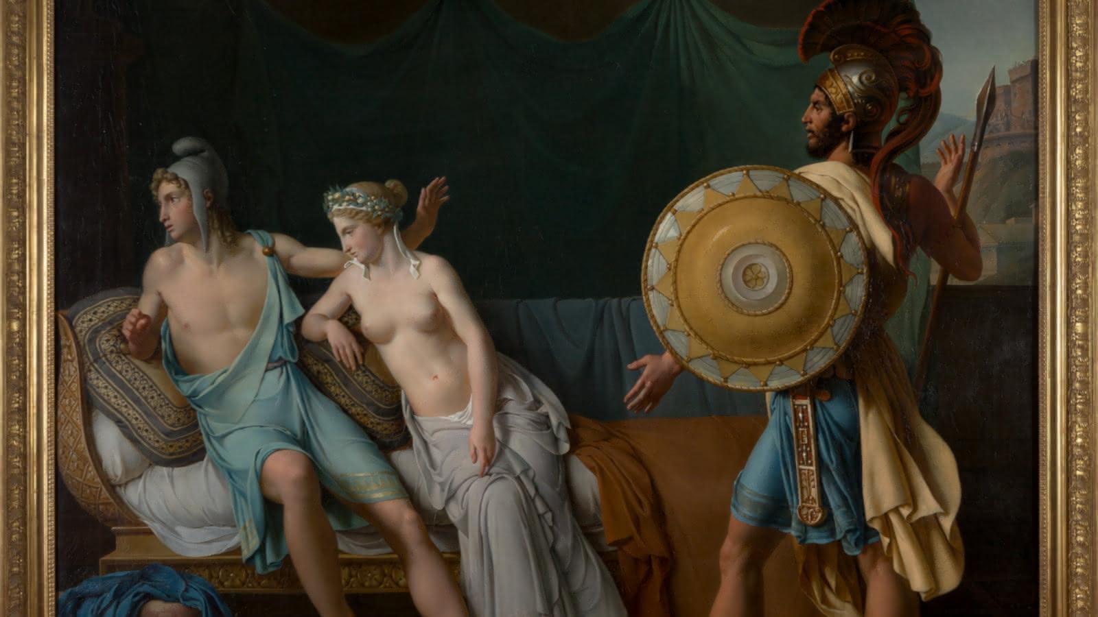Les reproches d'Hector à Pâris, d'Henri Mulard
