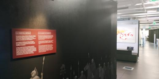 Intérieur du Musée de l'Archéologie de la Bataille de Gergovie