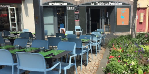 Terrasse - Restaurant - La table de la Fontaine