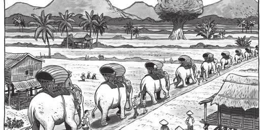 La longue marche des éléphants Kafka  BD concert