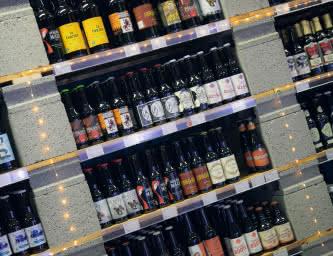 Craft beer bottle shop