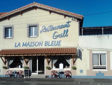 Façade - Restaurant - La maison bleue