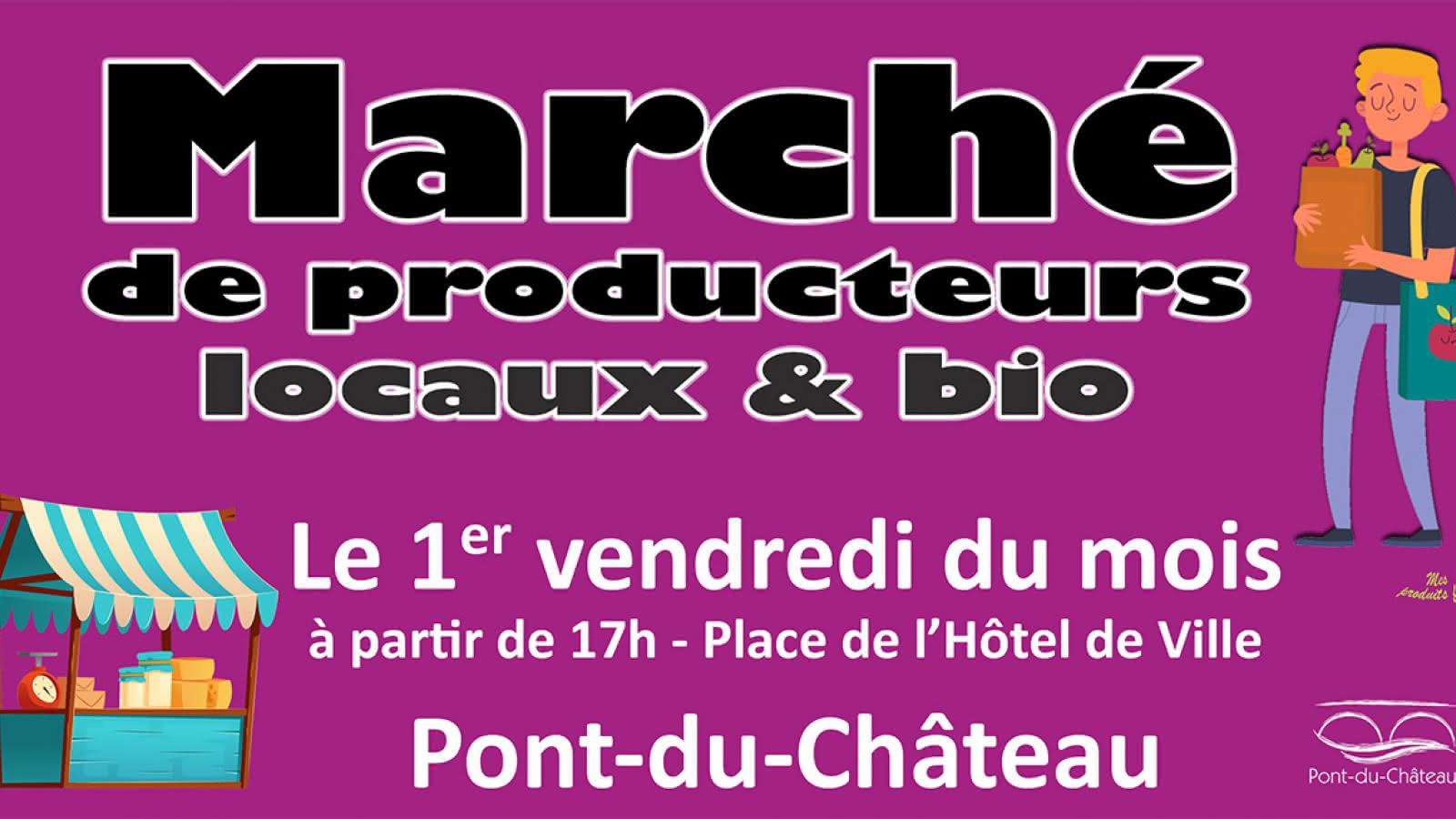 © Marché producteurs locaux pont du château